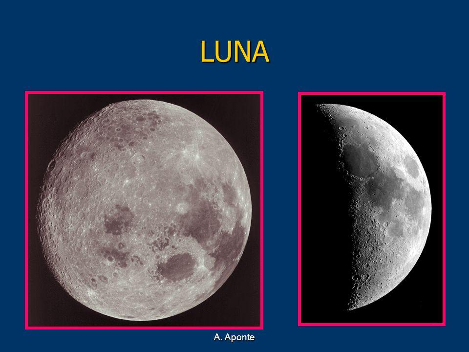 LUNA Sobre la superficie lunar se observan dos formaciones típicas: