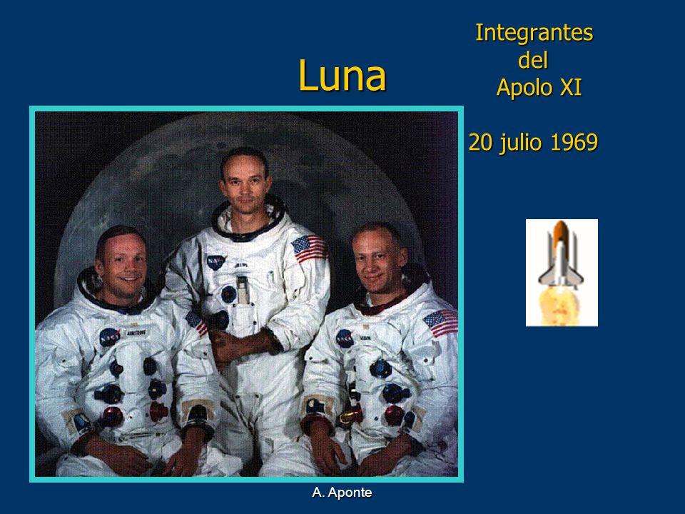 Luna Integrantes del Apolo XI 20 julio 1969 A. Aponte