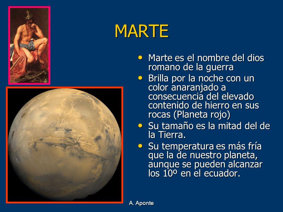MARTE Marte es el nombre del dios romano de la guerra