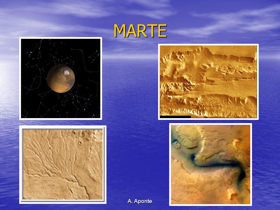 MARTE Aquí se observan formas de erosión que sugieren que en el pasado pudo existir agua líquida que recorrería su superficie.