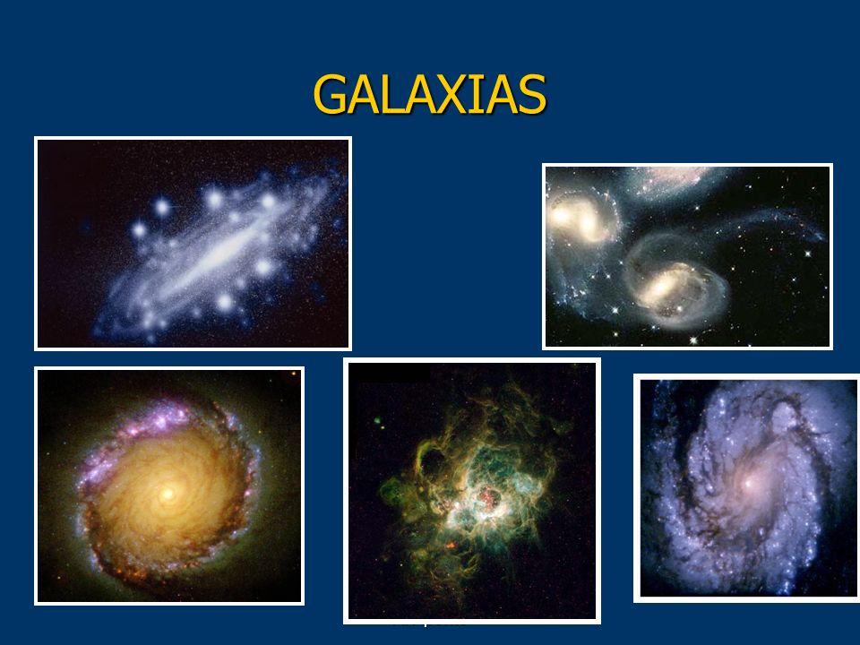 GALAXIAS Las galaxias son las unidades materiales que definen la estructura del Universo.