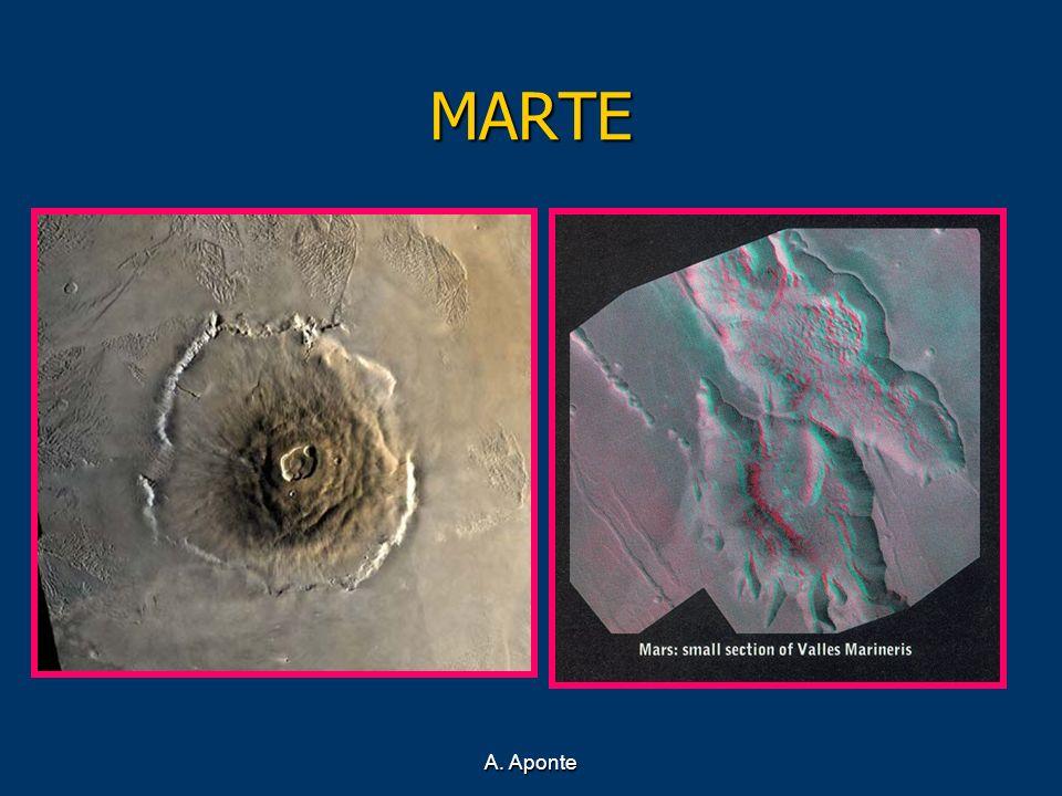 MARTE Dos de las estructuras más significativas de Marte son el Monte Olimpo y el Valle Marineris.