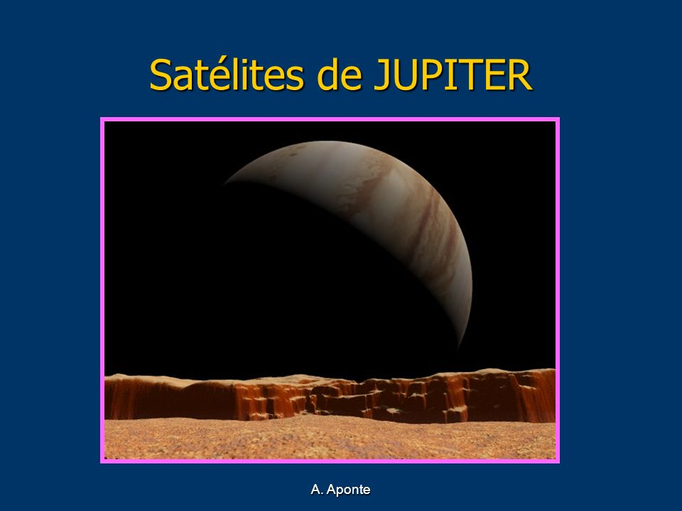 Satélites de JUPITER Júpiter visto desde Io A. Aponte
