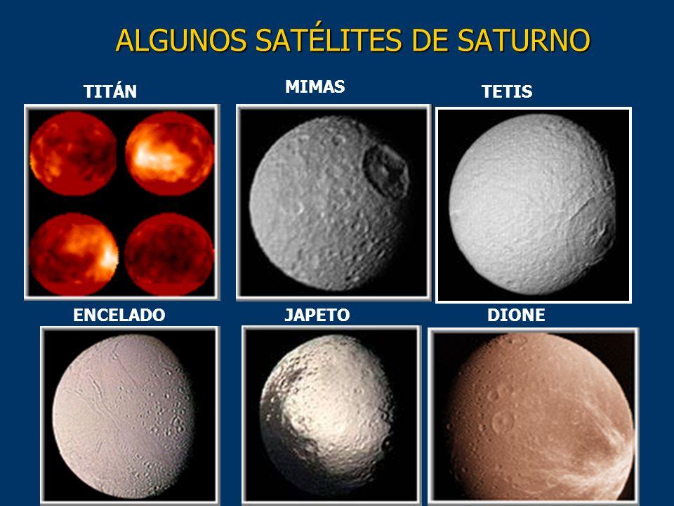 ALGUNOS SATÉLITES DE SATURNO