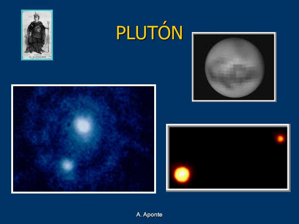 PLUTÓN Es el planeta más pequeño de todos, más o menos como media Luna..
