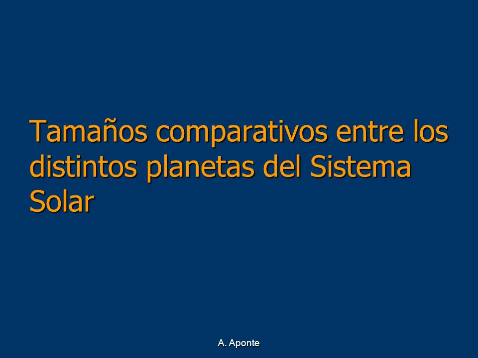 Tamaños comparativos entre los distintos planetas del Sistema Solar