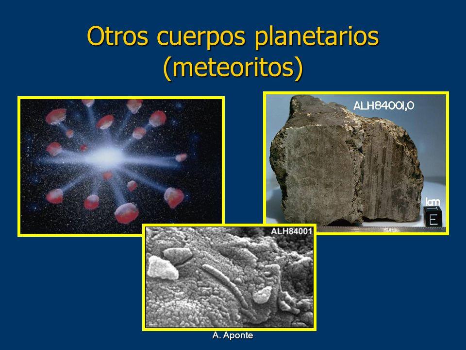 Otros cuerpos planetarios (meteoritos)