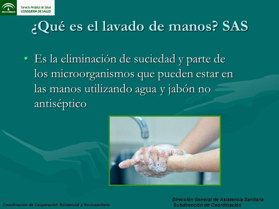 ¿Qué es el lavado de manos SAS
