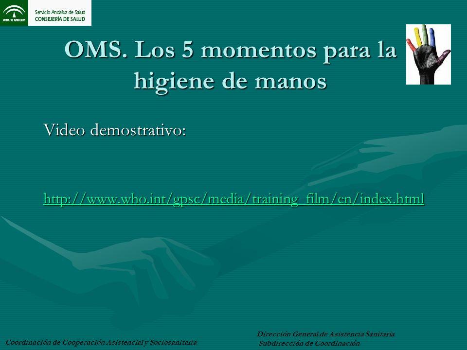 OMS. Los 5 momentos para la higiene de manos