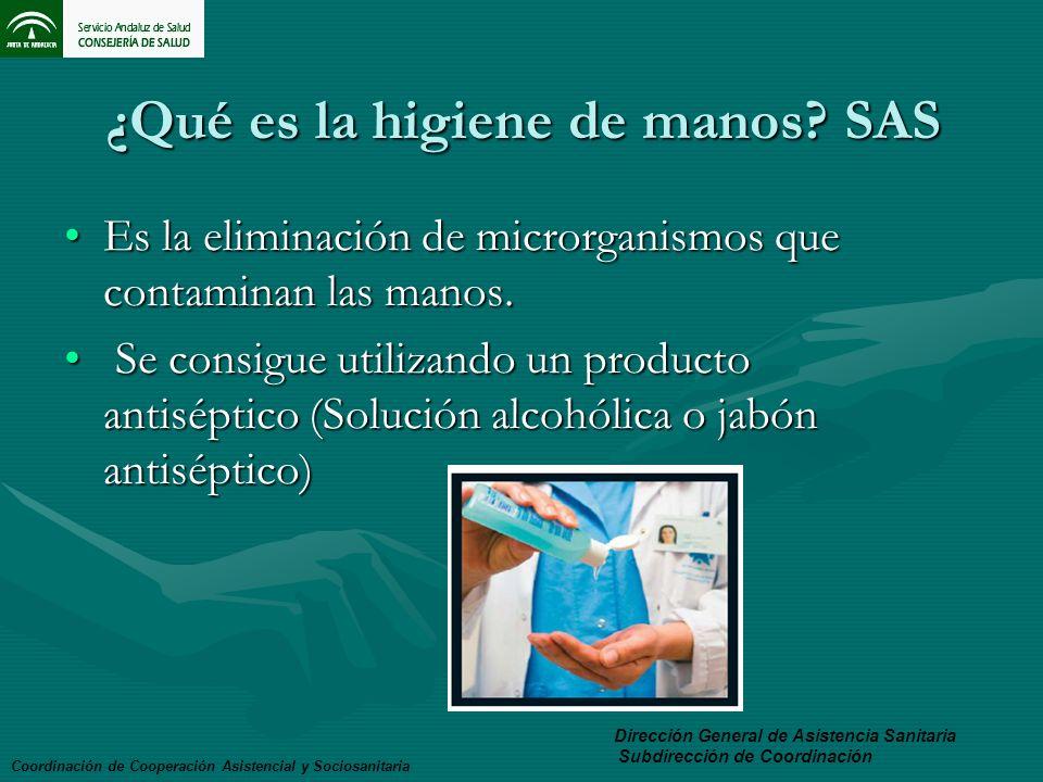 ¿Qué es la higiene de manos SAS