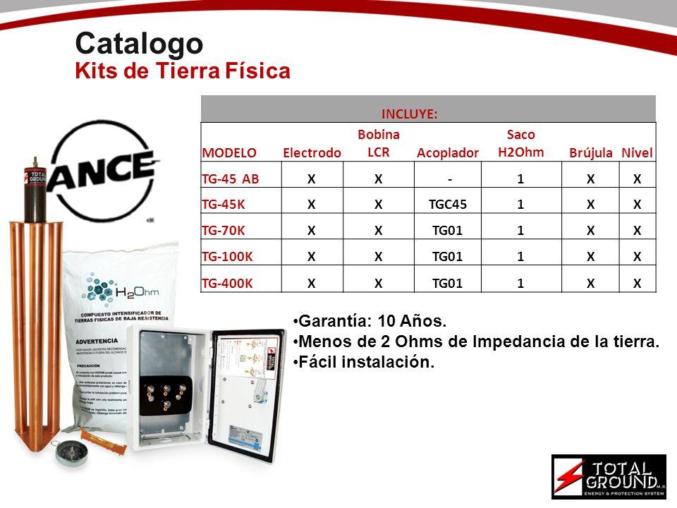 Catalogo Kits de Tierra Física Garantía: 10 Años.