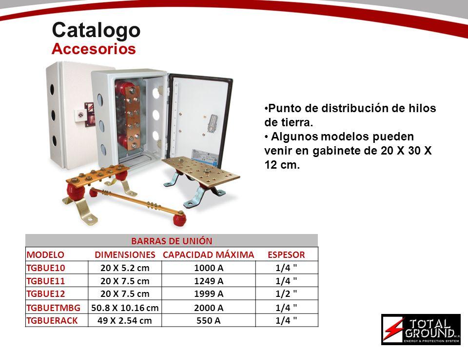 Catalogo Accesorios Punto de distribución de hilos de tierra.