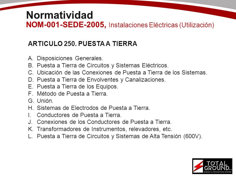 Normatividad NOM-001-SEDE-2005, Instalaciones Eléctricas (Utilización)