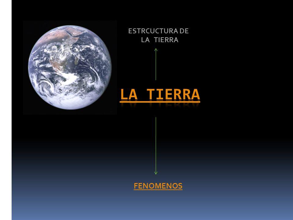 ESTRCUCTURA DE LA TIERRA la tierra FENOMENOS