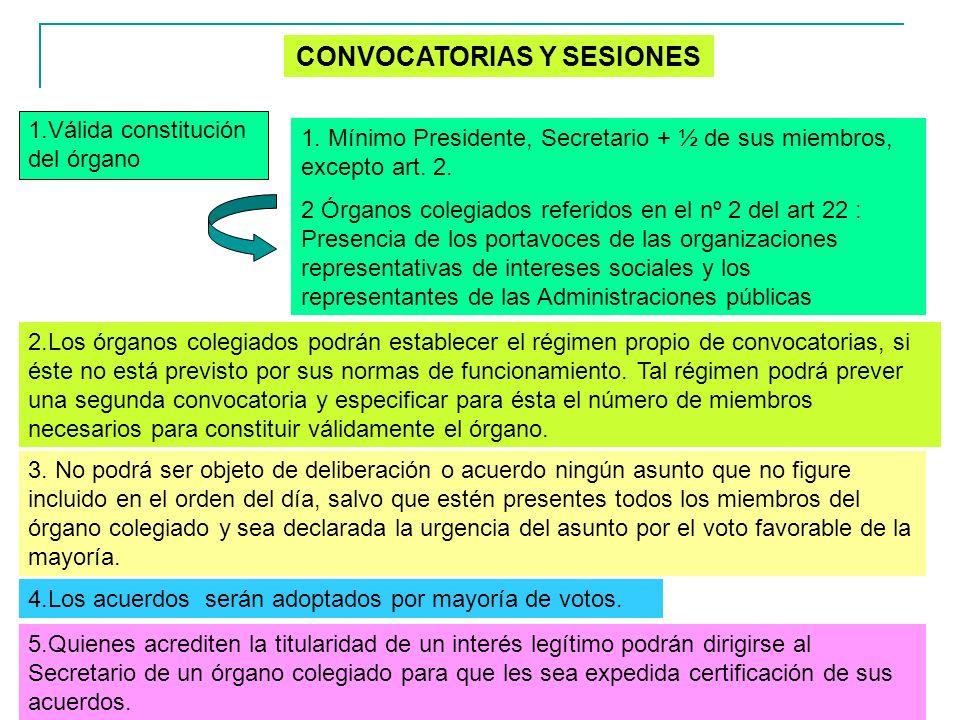 CONVOCATORIAS Y SESIONES