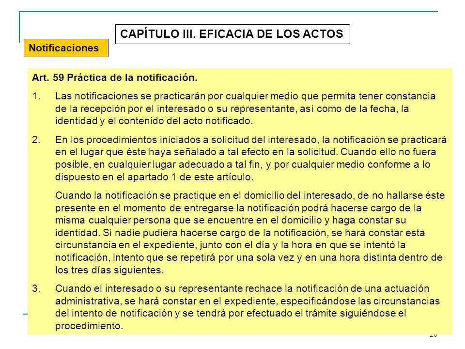 CAPÍTULO III. EFICACIA DE LOS ACTOS