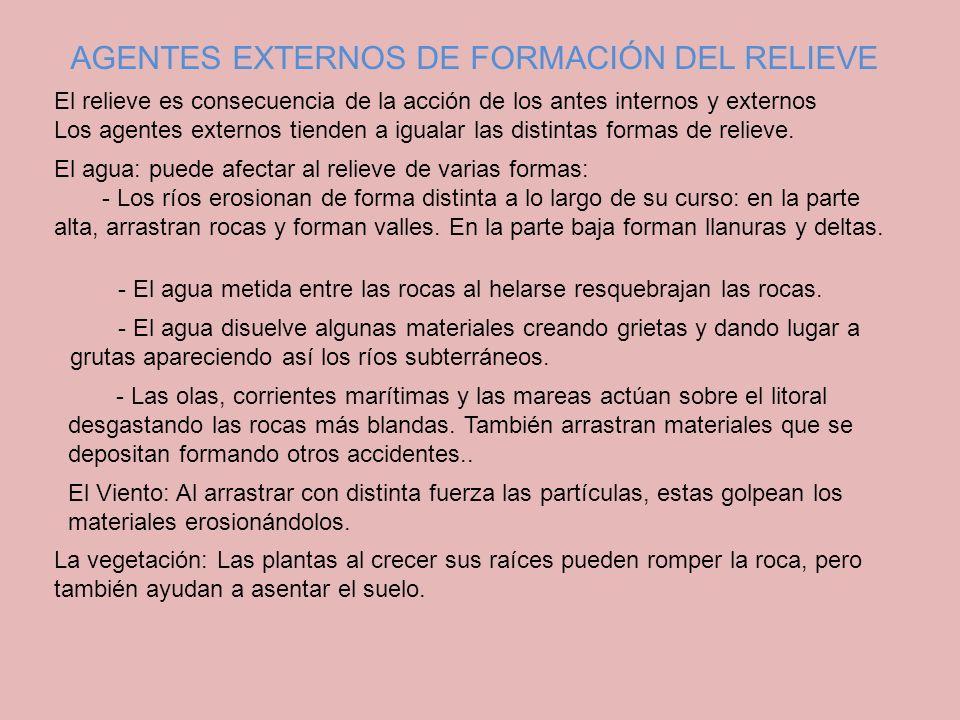 AGENTES EXTERNOS DE FORMACIÓN DEL RELIEVE