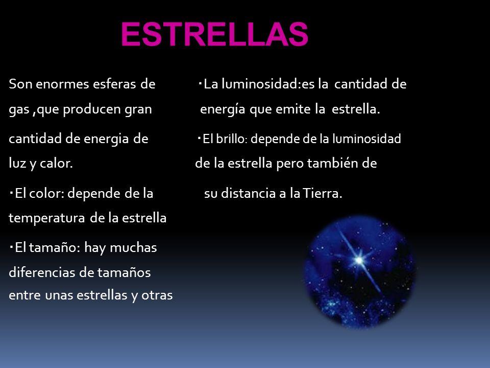 ESTRELLAS ·El color: depende de la su distancia a la Tierra.