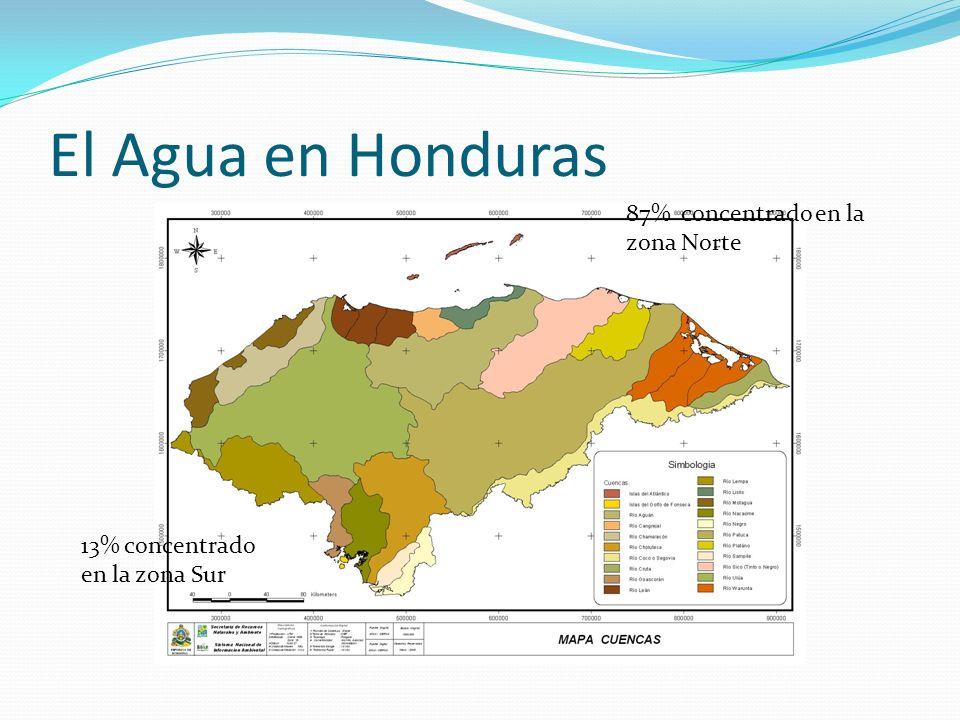 El Agua en Honduras 87% concentrado en la zona Norte
