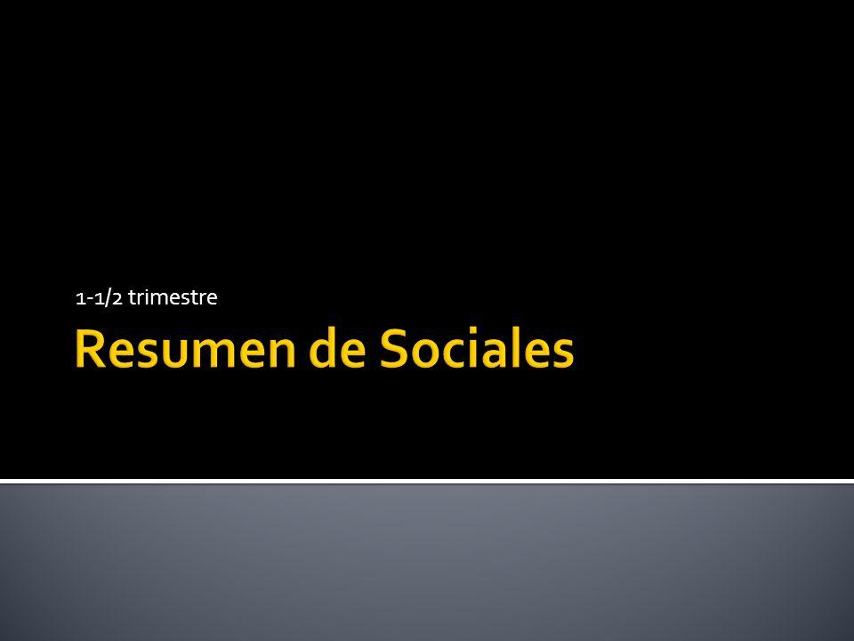 1-1/2 trimestre Resumen de Sociales