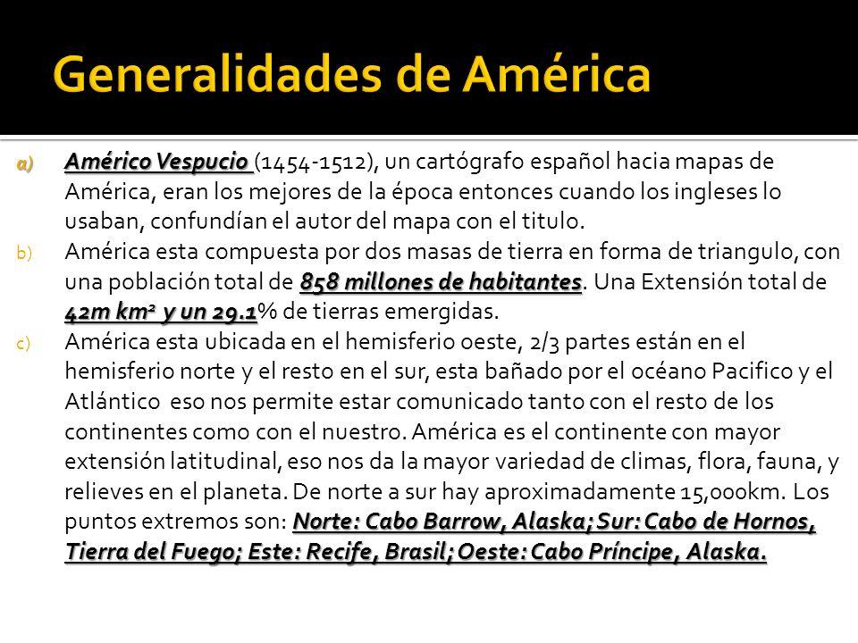 Generalidades de América