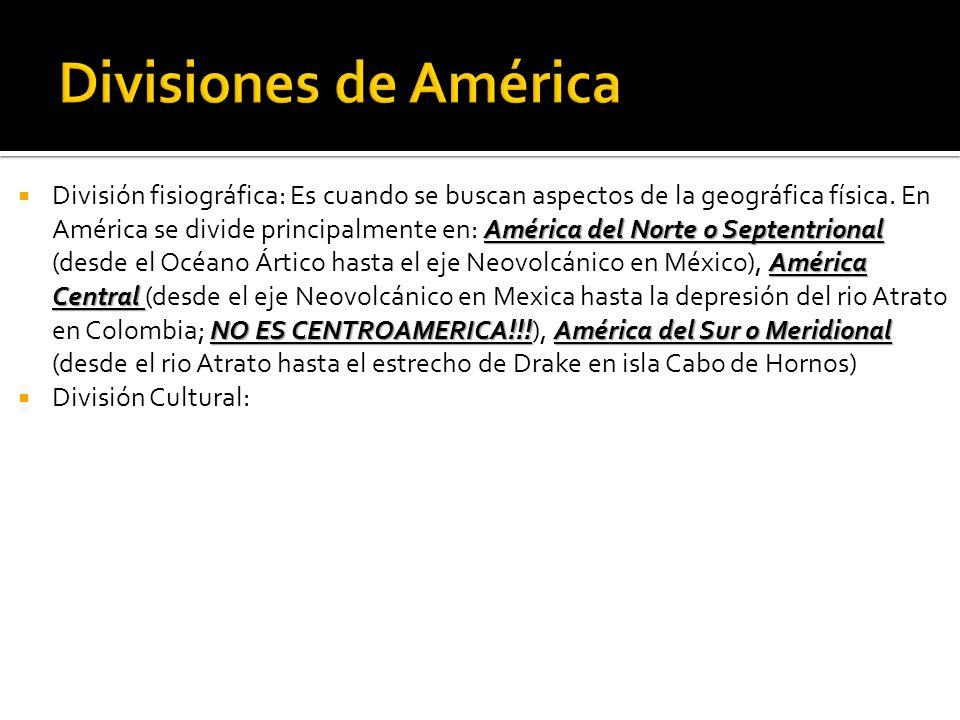Divisiones de América