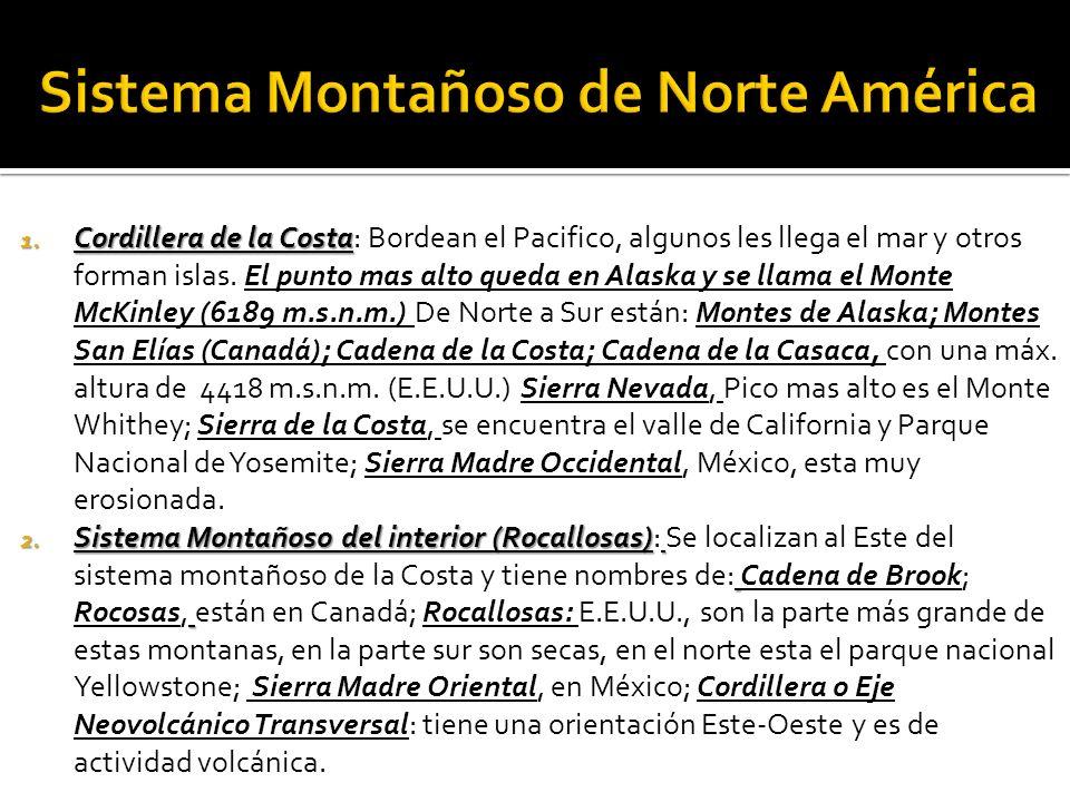 Sistema Montañoso de Norte América