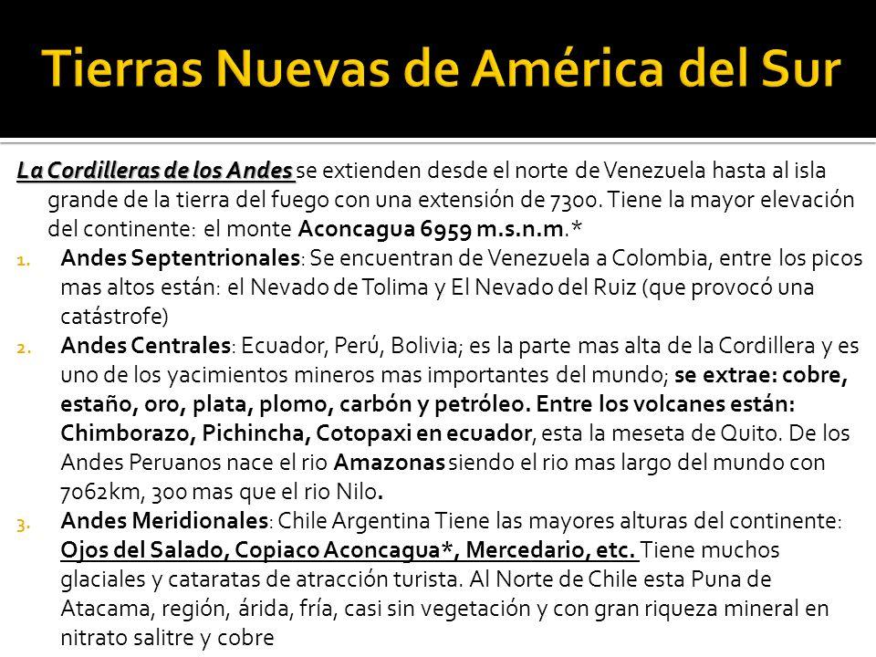 Tierras Nuevas de América del Sur
