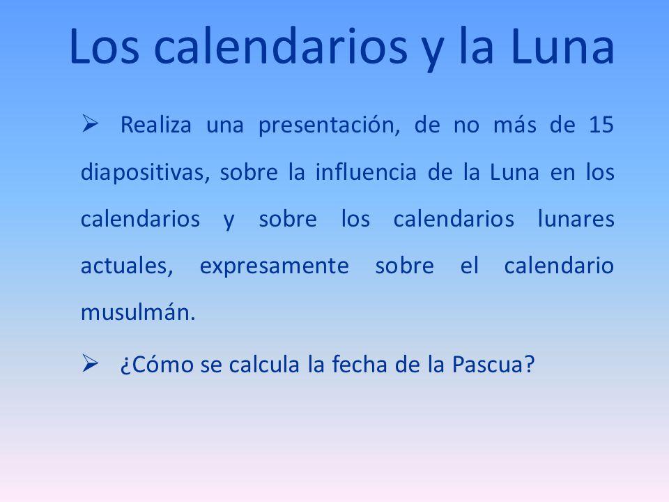 Los calendarios y la Luna