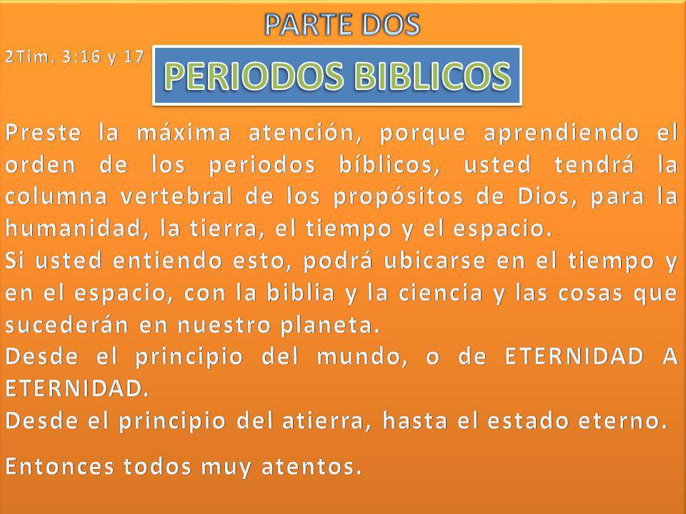 PERIODOS BIBLICOS PARTE DOS