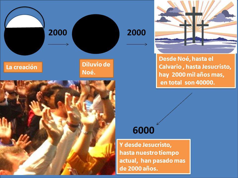 6000 2000 2000 Desde Noé, hasta el Calvario , hasta Jesucristo,