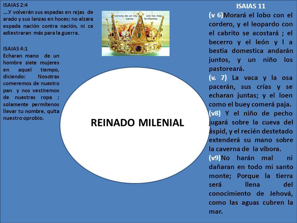 REINADO MILENIAL ISAIAS 11