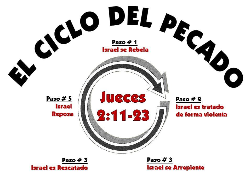 Jueces 2:11-23 Paso # 1 Israel se Rebela Paso # 5 Paso # 2 Israel