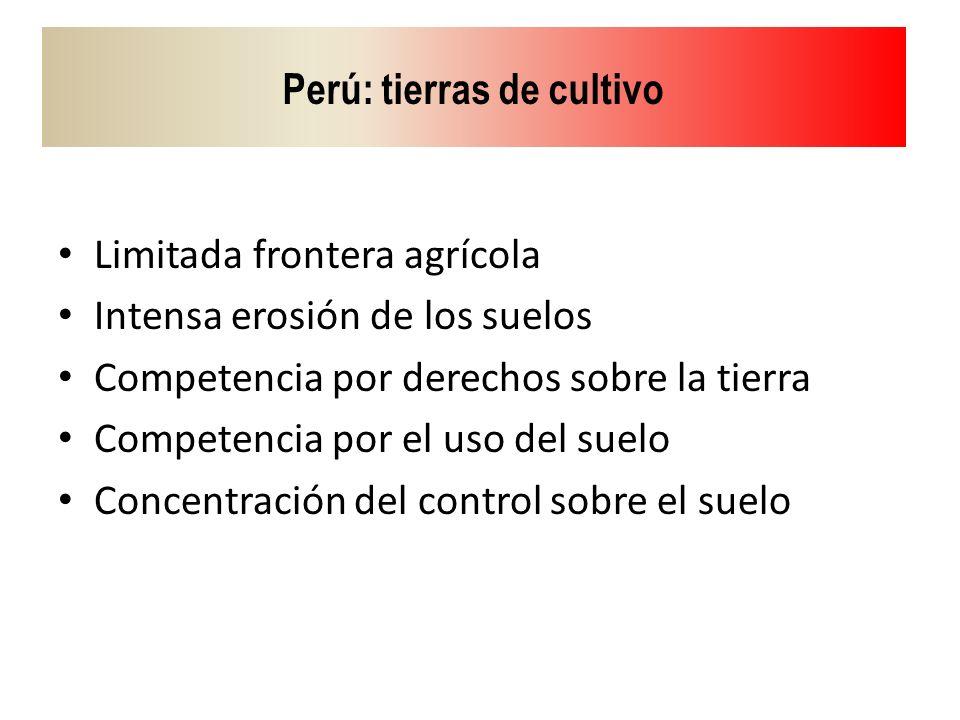 Perú: tierras de cultivo