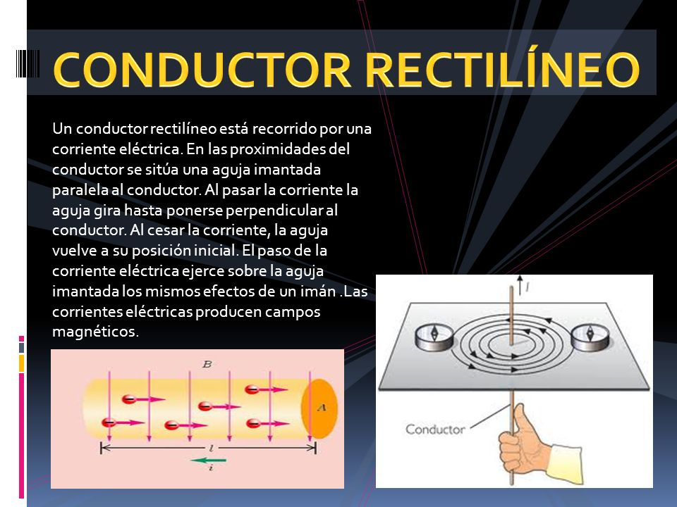 CONDUCTOR RECTILÍNEO