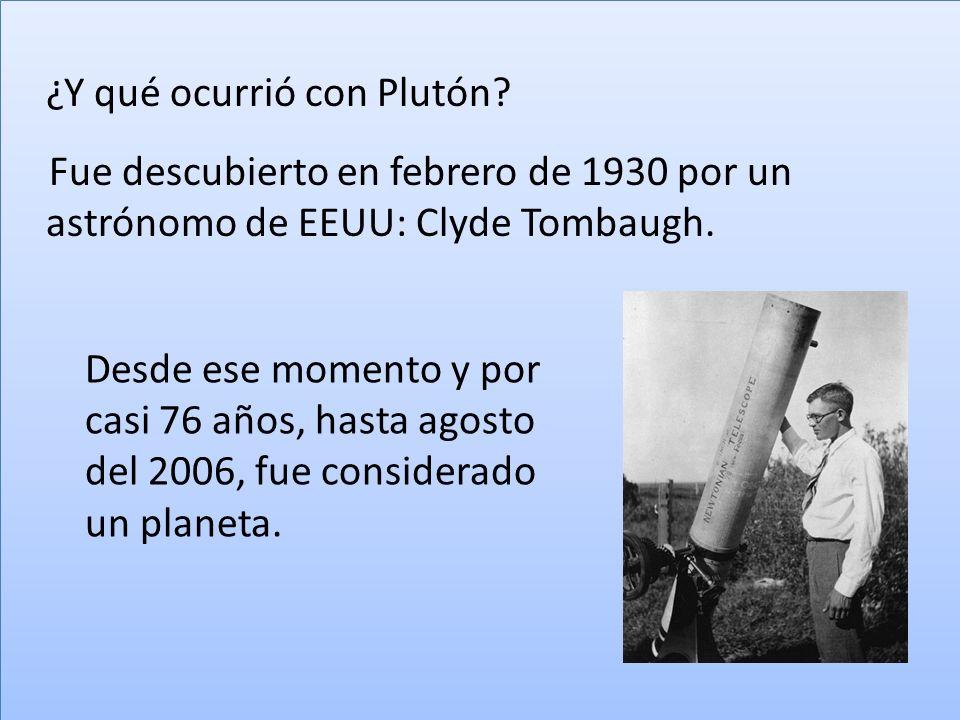 ¿Y qué ocurrió con Plutón