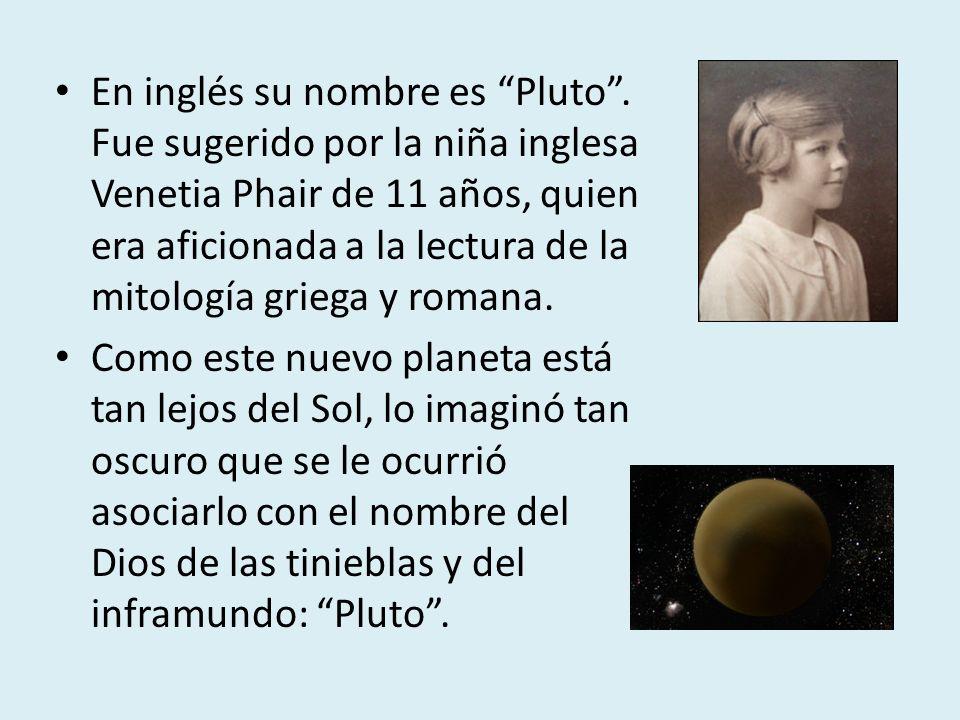 En inglés su nombre es Pluto