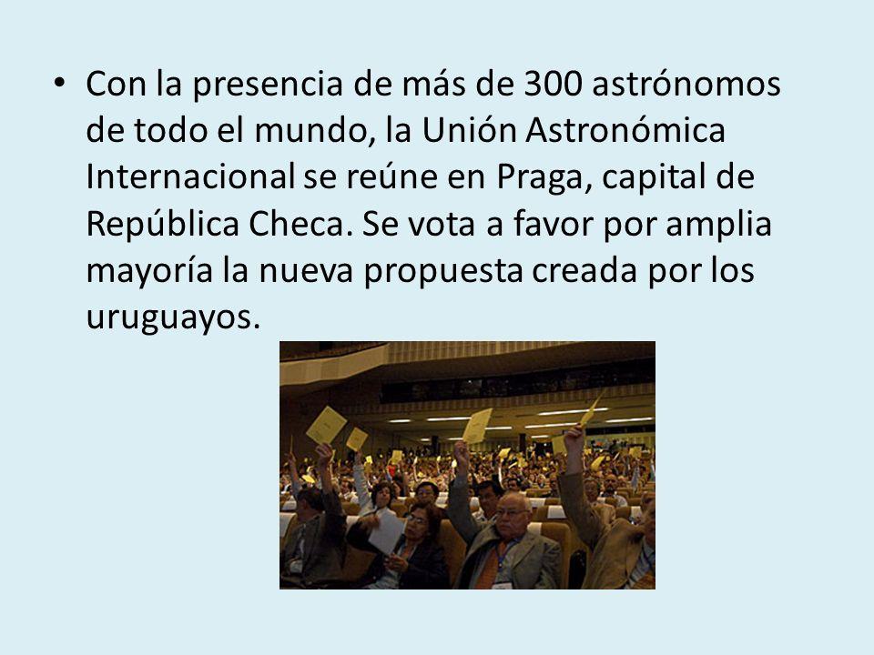 Con la presencia de más de 300 astrónomos de todo el mundo, la Unión Astronómica Internacional se reúne en Praga, capital de República Checa.