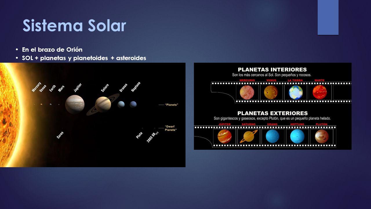 Sistema Solar En el brazo de Orión