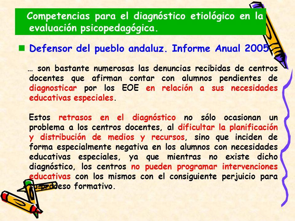 Defensor del pueblo andaluz. Informe Anual 2005