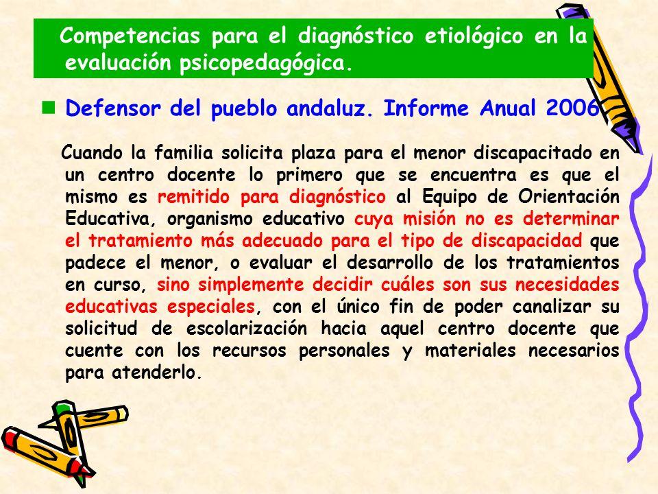 Defensor del pueblo andaluz. Informe Anual 2006