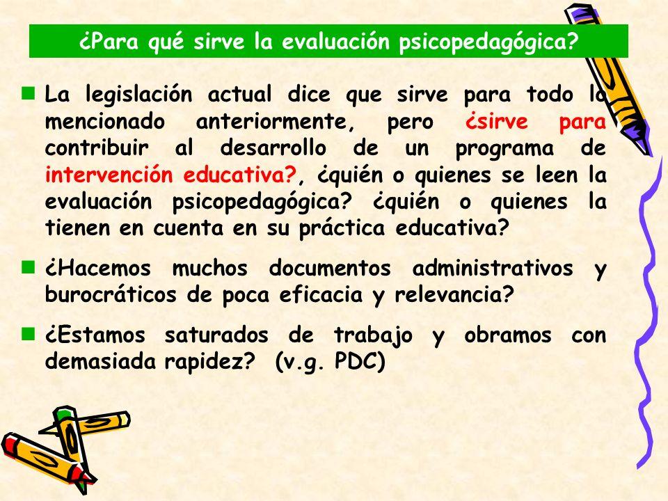 ¿Para qué sirve la evaluación psicopedagógica