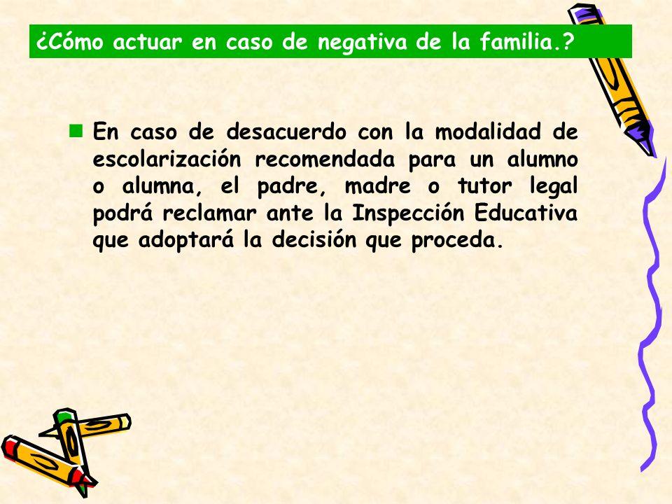 ¿Cómo actuar en caso de negativa de la familia.