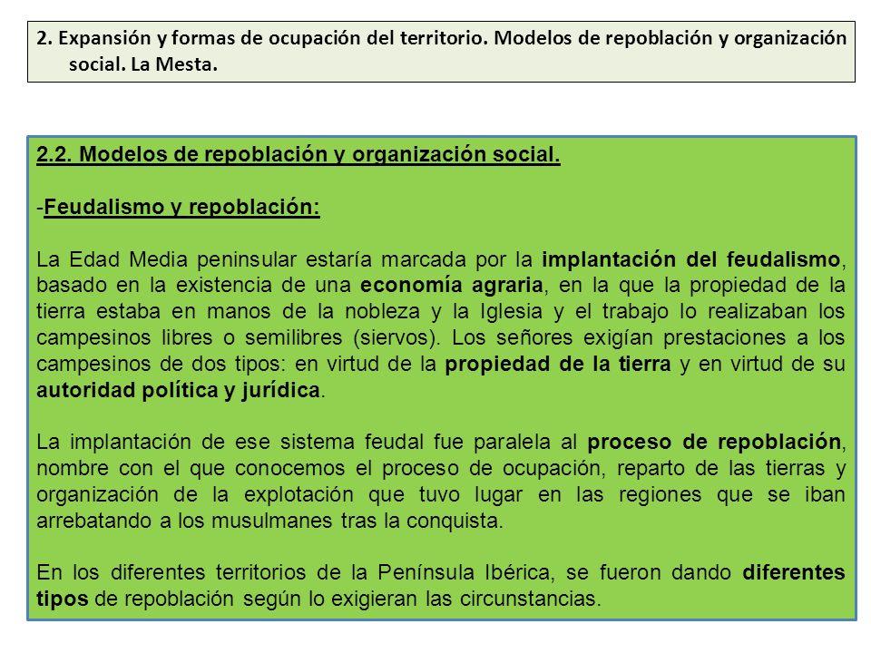 2. Expansión y formas de ocupación del territorio