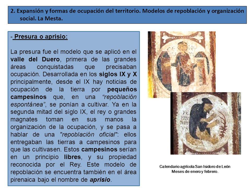 Calendario agrícola San Isidoro de León Meses de enero y febrero.