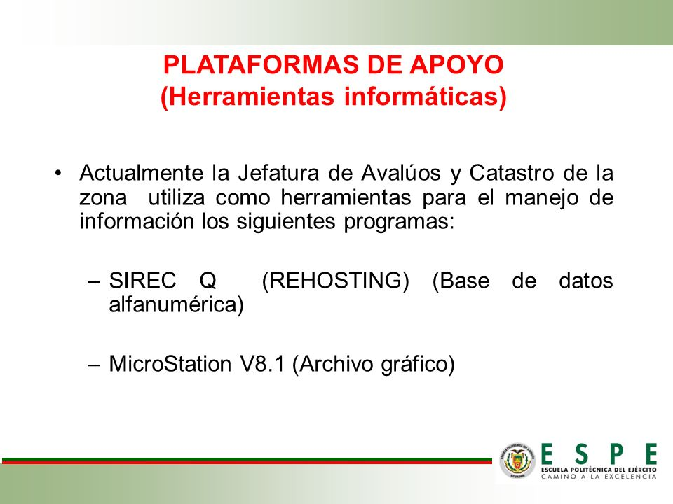 PLATAFORMAS DE APOYO (Herramientas informáticas)