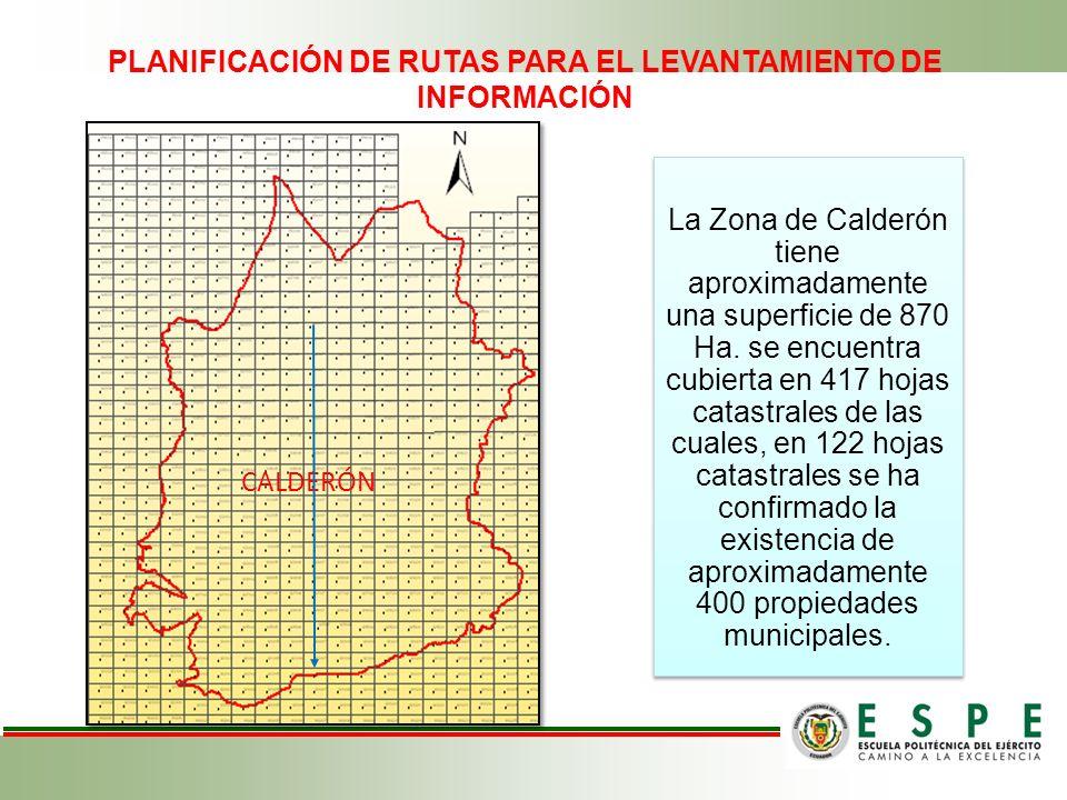 PLANIFICACIÓN DE RUTAS PARA EL LEVANTAMIENTO DE INFORMACIÓN