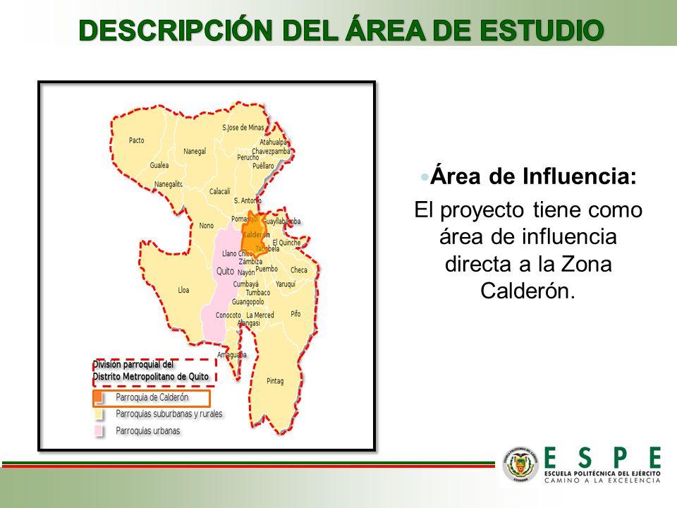 DESCRIPCIÓN DEL ÁREA DE ESTUDIO Ubicación Geográfica: