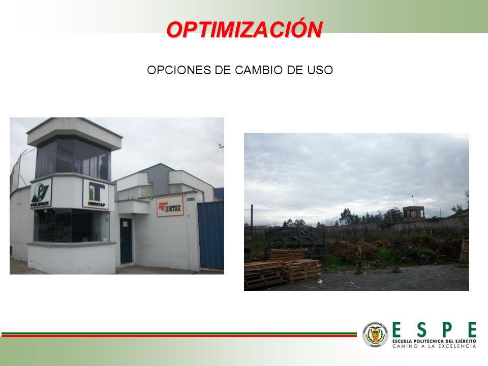 OPCIONES DE CAMBIO DE USO