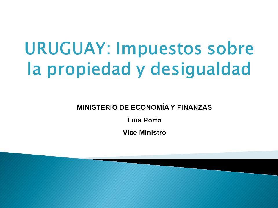 URUGUAY: Impuestos sobre la propiedad y desigualdad